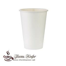 Бумажные стаканы 250 мл белый